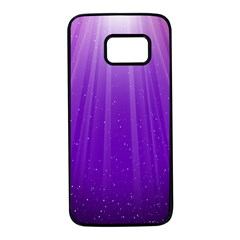 Purple Colors Fullcolor Samsung Galaxy S7 Black Seamless Case