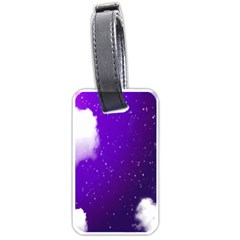 Purple Cloud Luggage Tags (two Sides)