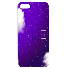 Purple Cloud Apple Iphone 5 Hardshell Case With Stand