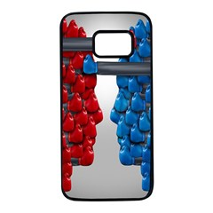 Red Boxing Gloves And A Competing Samsung Galaxy S7 Black Seamless Case