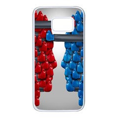 Red Boxing Gloves And A Competing Samsung Galaxy S7 White Seamless Case