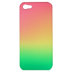 The Walls Pink Green Yellow Apple Iphone 5 Hardshell Case