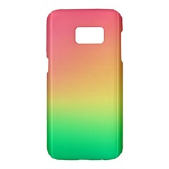The Walls Pink Green Yellow Samsung Galaxy S7 Hardshell Case
