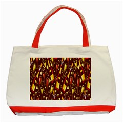 Wine Glass Drink Party Classic Tote Bag (Red)