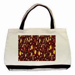 Wine Glass Drink Party Basic Tote Bag (Two Sides)