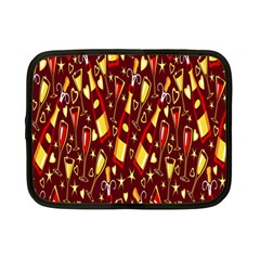 Wine Glass Drink Party Netbook Case (Small)