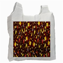 Wine Glass Drink Party Recycle Bag (Two Side)