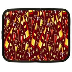 Wine Glass Drink Party Netbook Case (XL)