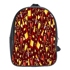 Wine Glass Drink Party School Bags(Large)