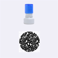 Wine Glass Drink Party Rubber Round Stamps (Small)