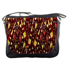 Wine Glass Drink Party Messenger Bags