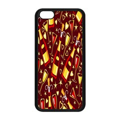 Wine Glass Drink Party Apple iPhone 5C Seamless Case (Black)