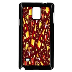 Wine Glass Drink Party Samsung Galaxy Note 4 Case (Black)