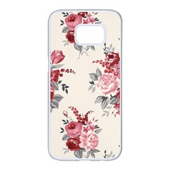 Rose Beauty Flora Samsung Galaxy S7 edge White Seamless Case