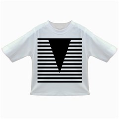 Black & White Stripes Big Triangle Infant/toddler T Shirts