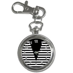 Black & White Stripes Big Triangle Key Chain Watches