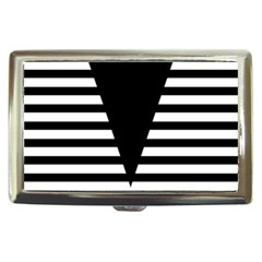 Black & White Stripes Big Triangle Cigarette Money Cases