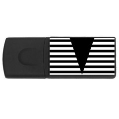 Black & White Stripes Big Triangle Usb Flash Drive Rectangular (4 Gb)