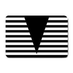Black & White Stripes Big Triangle Small Doormat