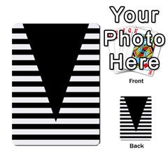 Black & White Stripes Big Triangle Multi Purpose Cards (rectangle)