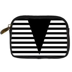 Black & White Stripes Big Triangle Digital Camera Cases
