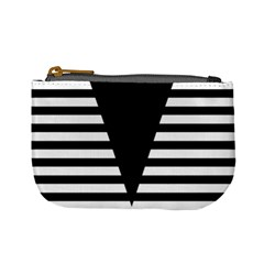 Black & White Stripes Big Triangle Mini Coin Purses
