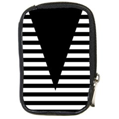 Black & White Stripes Big Triangle Compact Camera Cases
