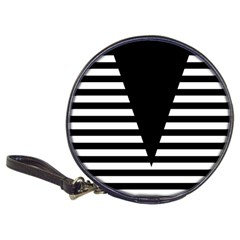 Black & White Stripes Big Triangle Classic 20 Cd Wallets