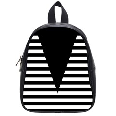 Black & White Stripes Big Triangle School Bags (small)