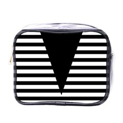 Black & White Stripes Big Triangle Mini Toiletries Bags