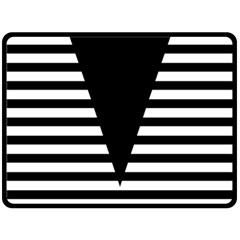 Black & White Stripes Big Triangle Fleece Blanket (large)