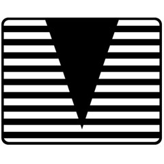 Black & White Stripes Big Triangle Fleece Blanket (medium)