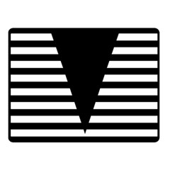 Black & White Stripes Big Triangle Fleece Blanket (small)