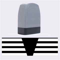 Black & White Stripes Big Triangle Name Stamps