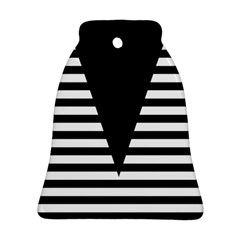 Black & White Stripes Big Triangle Ornament (bell)