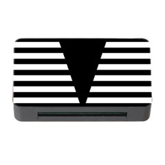 Black & White Stripes Big Triangle Memory Card Reader With Cf