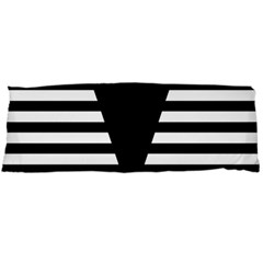 Black & White Stripes Big Triangle Body Pillow Case (dakimakura)