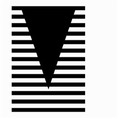 Black & White Stripes Big Triangle Small Garden Flag (two Sides)