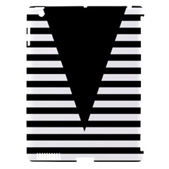Black & White Stripes Big Triangle Apple Ipad 3/4 Hardshell Case (compatible With Smart Cover)