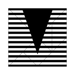 Black & White Stripes Big Triangle Acrylic Tangram Puzzle (6  X 6 )