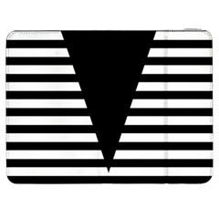 Black & White Stripes Big Triangle Samsung Galaxy Tab 7  P1000 Flip Case