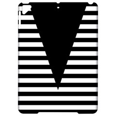 Black & White Stripes Big Triangle Apple Ipad Pro 9 7   Hardshell Case