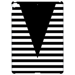Black & White Stripes Big Triangle Apple Ipad Pro 12 9   Hardshell Case