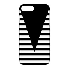 Black & White Stripes Big Triangle Apple Iphone 7 Plus Hardshell Case