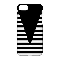 Black & White Stripes Big Triangle Apple Iphone 7 Hardshell Case