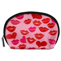 Valentine s Day Kisses Accessory Pouches (large)