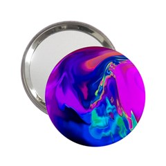 The Perfect Wave Pink Blue Red Cyan 2 25  Handbag Mirrors