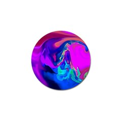 The Perfect Wave Pink Blue Red Cyan Golf Ball Marker (10 Pack)