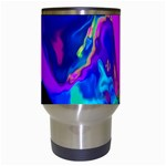 The Perfect Wave Pink Blue Red Cyan Travel Mugs (White) Center