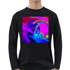 The Perfect Wave Pink Blue Red Cyan Long Sleeve Dark T Shirts
